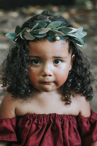 Burlap Boho Halo Flower Crown