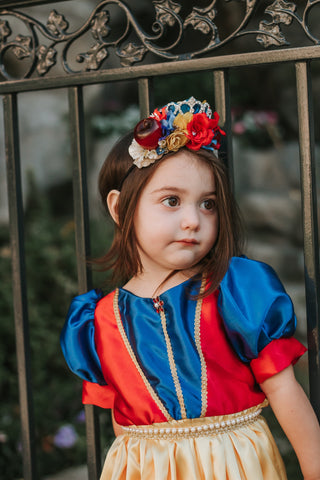 Snow White Inspired Flower Crown