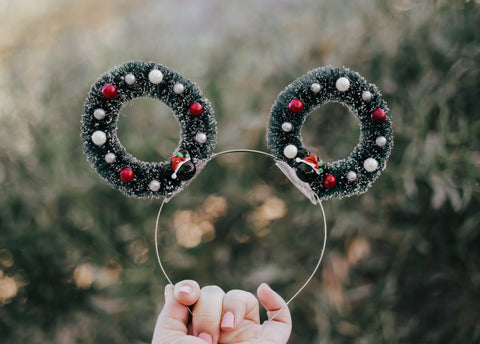 Christmas Mickey Ears Headband