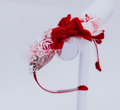 Bow flower crown headband