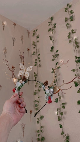 Custom Christmas Deer Antlers