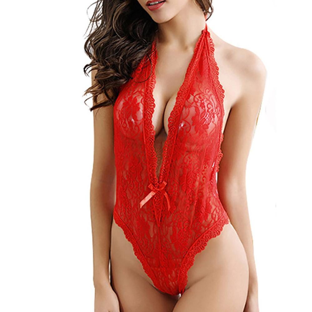 Lingerie-Lace Babydoll Sleepware Dress, Plus Size Available-Bawdy Play.com