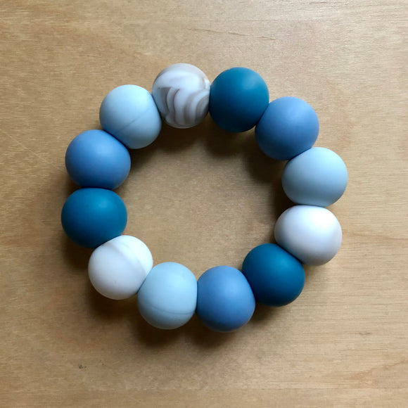 River Blue Teething Ring