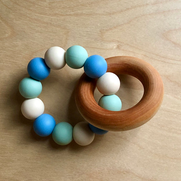 River Day Teething Ring With Wood