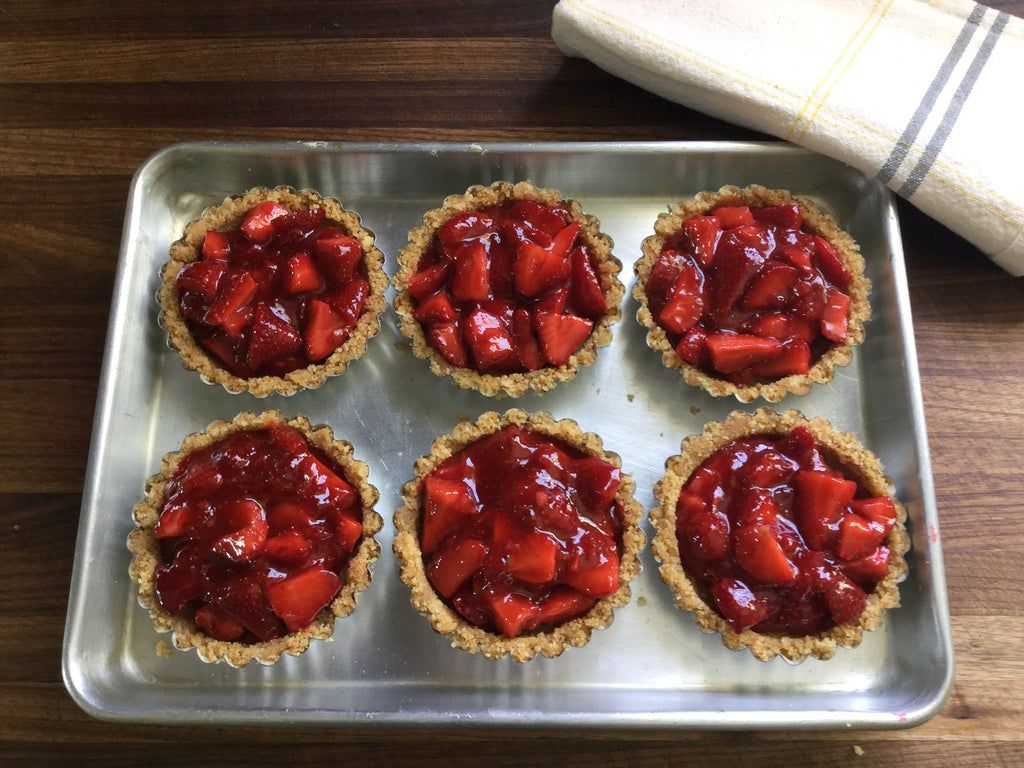 Strawberry Icebox Tartlets