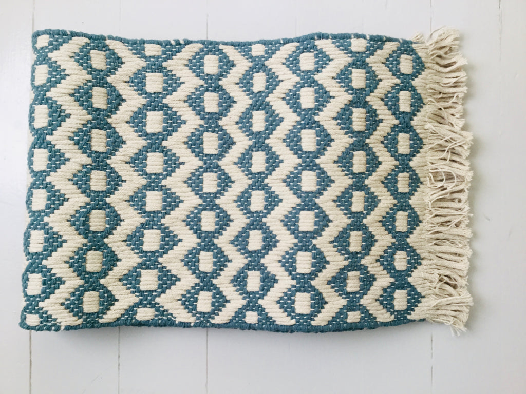 Geometric Print Runner ~ Teal