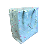 Windy Willow Farm Insulated Market Tote - Pool Blue Floral