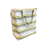Windy Willow Farm Insulated Market Tote - Chartreuse Stripes