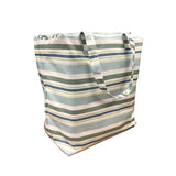 Windy Willow Farm Insulated Market Tote - Pool Blue Stripes
