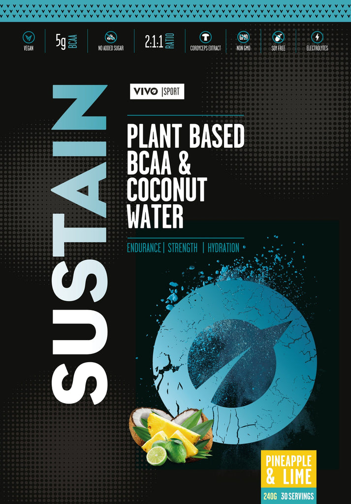 Sustain Plant Based BCAA & Coconut Water  With Cordyceps Mushroom