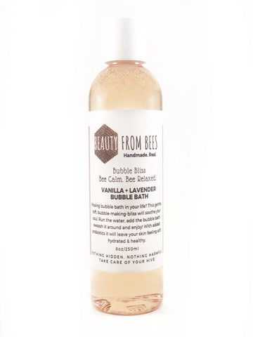 Beauty From Bees Vanilla + Lavender Bubble Bath