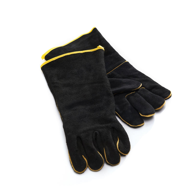 Grill Pro Black Leather Grilling Gloves