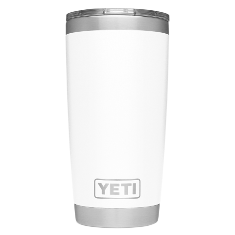 Yeti Rambler 591ml/ 20oz Tumbler with Magslider Lid - White