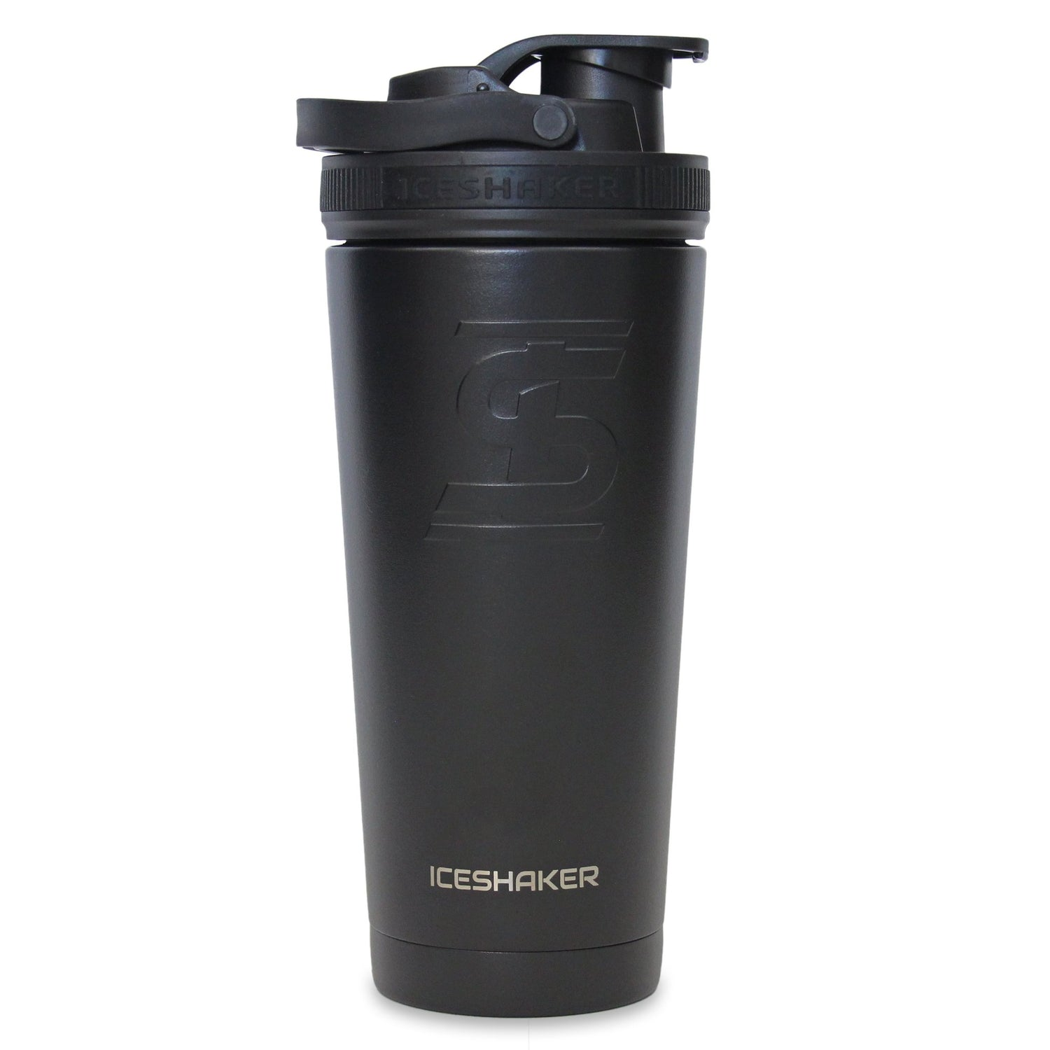 Ice Shaker 26oz Shaker Bottle - Black