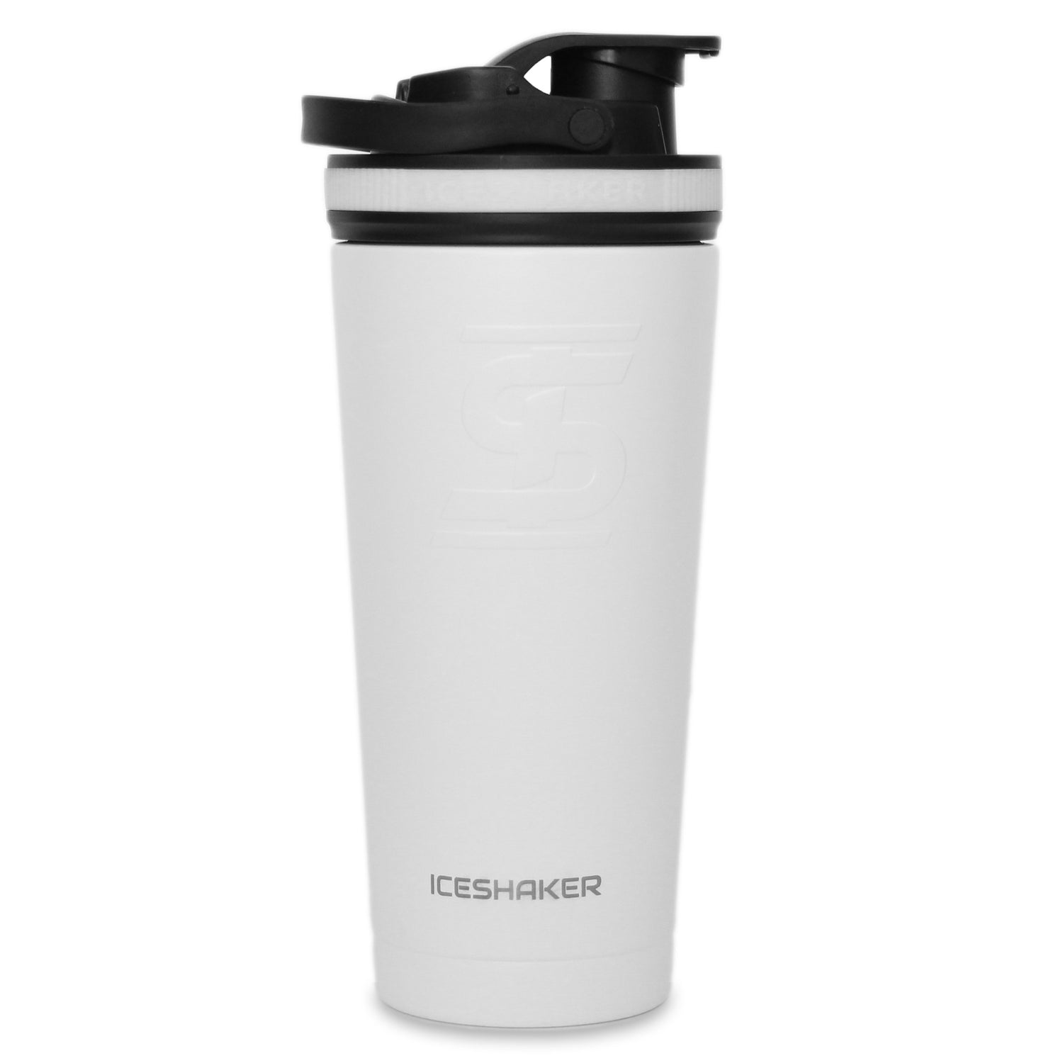 Ice Shaker 26oz Shaker Bottle - White