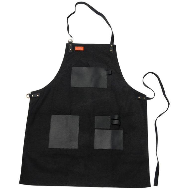 Traeger - Apron Black Canvas & Leather