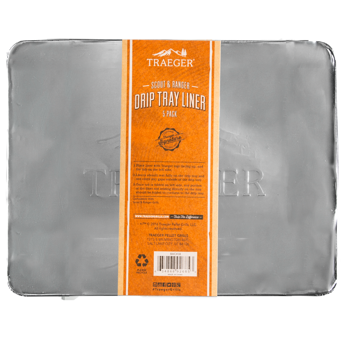 Traeger Drip Tray Liners 5 Pack - Ranger