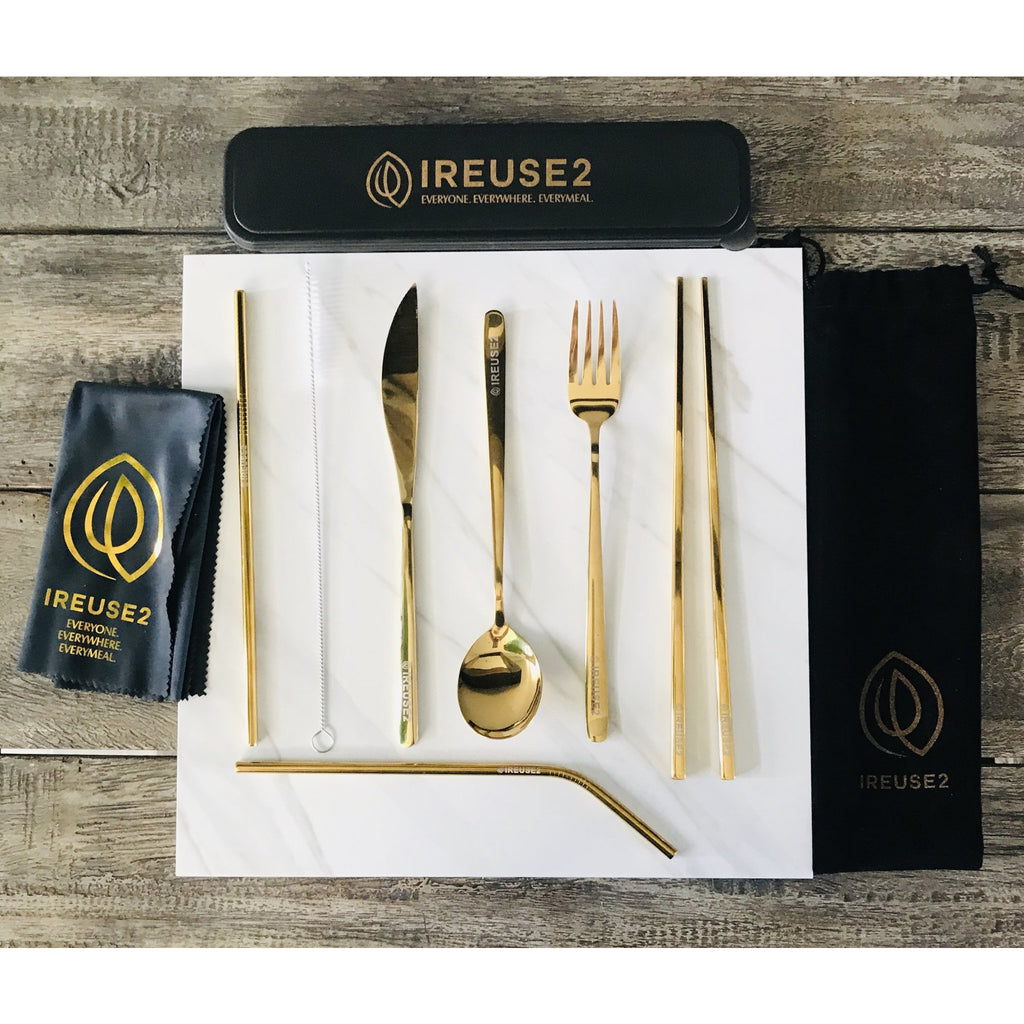 Ireuse2 Cutlery Set - Gorgeous Gold