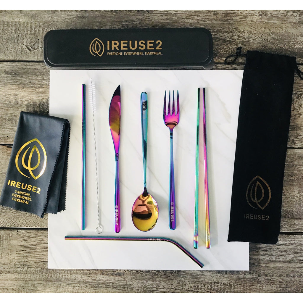Ireuse2 Cutlery Set - Incredible Iridescent