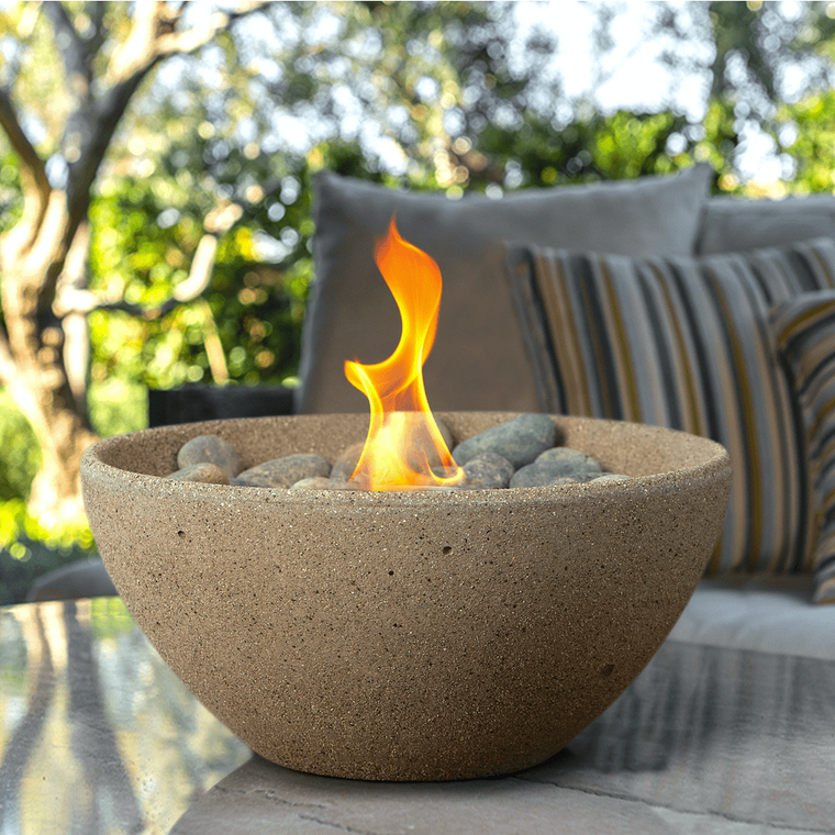 Terra Flame - Basin Fire Bowl Table Top - Sand