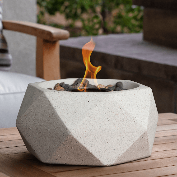 Terra Flame - Geo Fire Bowl Table Top - White
