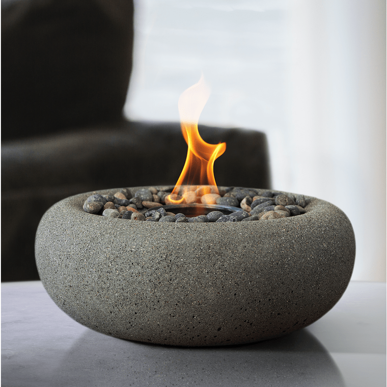 Terra Flame - Zen Fire Bowl Table Top - Pewter