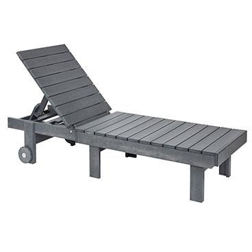 CR Plastic products Chaise Lounge W/ Wheels