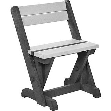 CR Plastic Products Dining Chair With Back