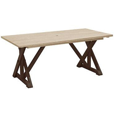 CR Plastic products WIDE DINING TABLE W/ 2