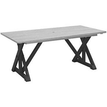 "CR Plastic products WIDE DINING TABLE W/ 2"" UMBRELLA HOLE"
