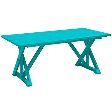 "CRP Wide Dining Table With 2"" Umbrella Hole"