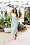 To The Max Striped Maxi In Mint