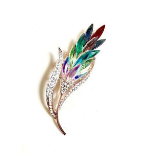 Multi-colour Crystal Flower Brooches Rhinestone Brooch