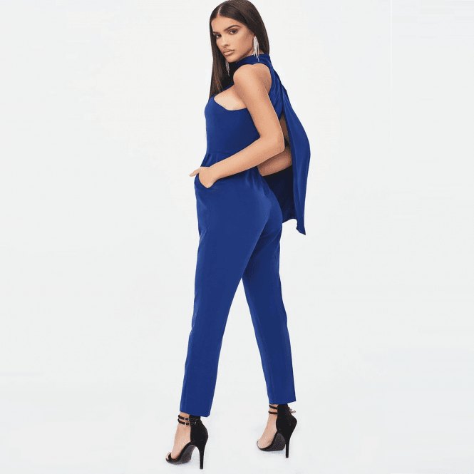 Blue Cape Jumpsuit