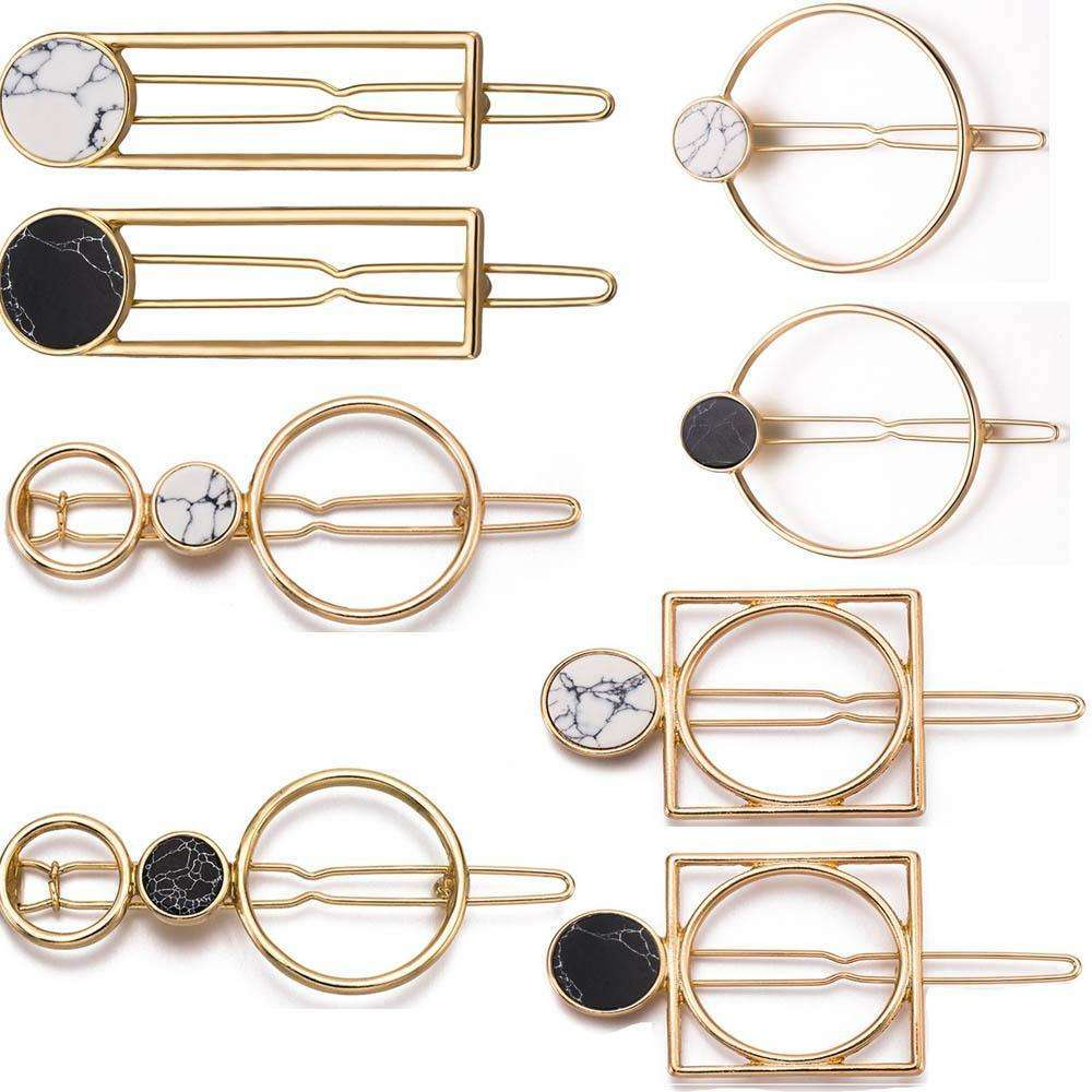 Metal Circle Square Hair Clips - more styles available