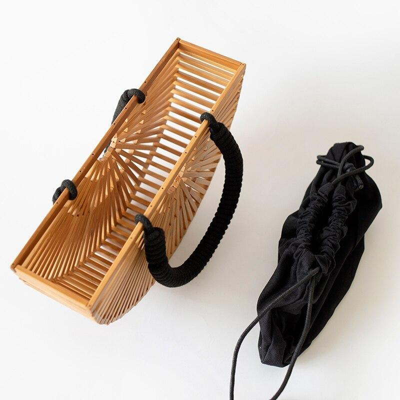 Bamboo shoulder bag