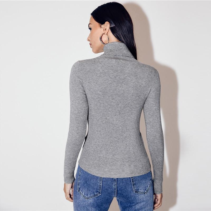 Turtleneck Slim Fit Rib-knit High Neck Top - more colours available