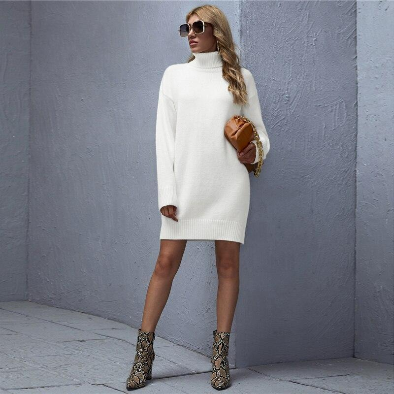 High Neck Sweater Dress - more colours available