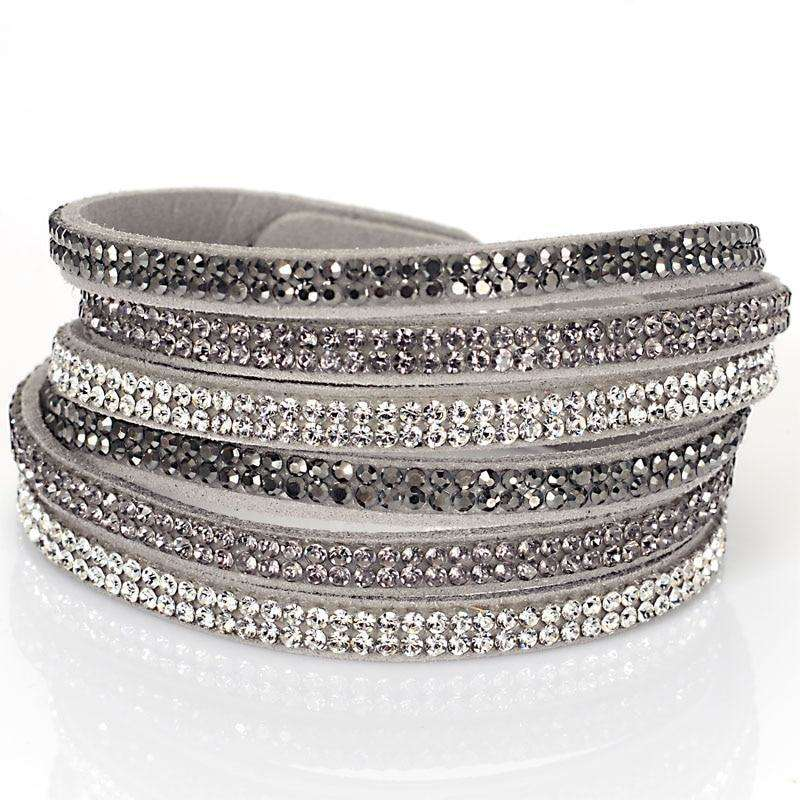Double Wrap 3 Rows Crystal Bracelet - more colours available