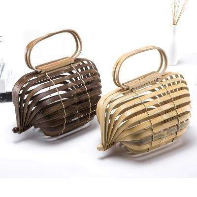 Bamboo Basket Bag - 2 colours available