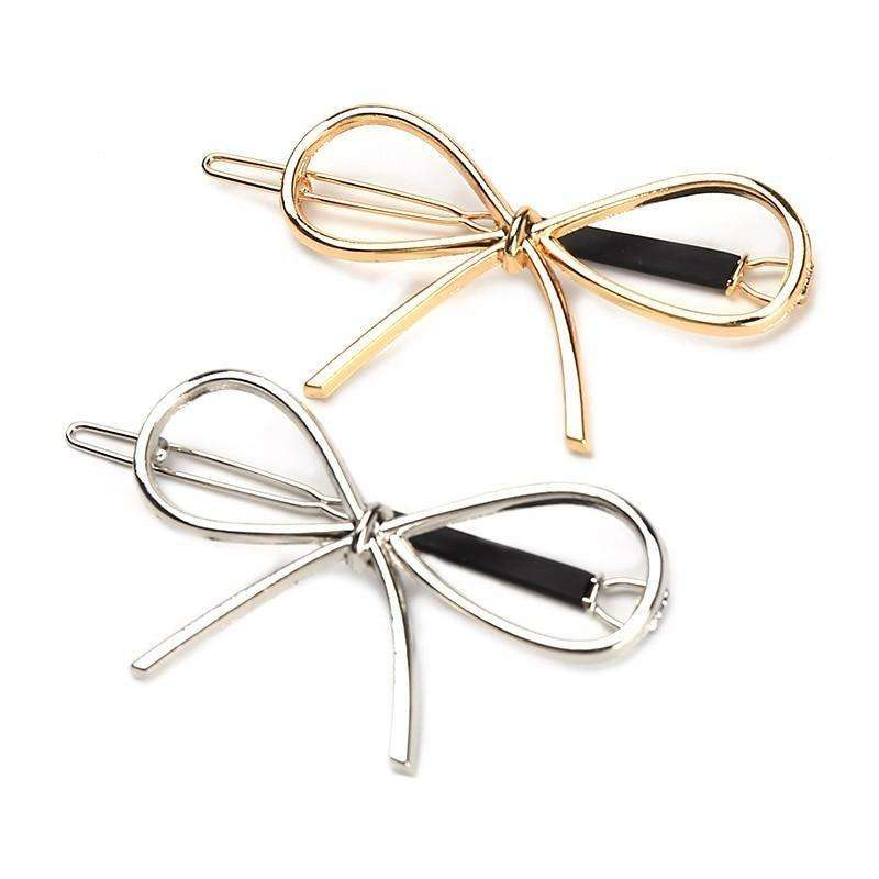 Metal Bow Knot Hair Clip