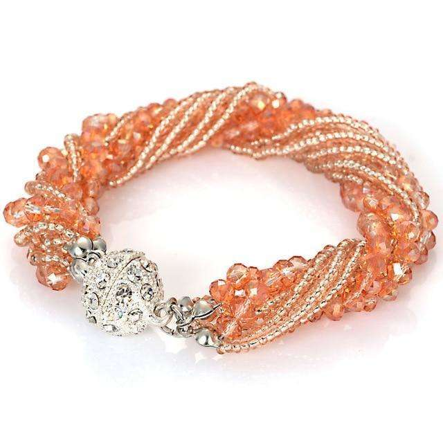 Multiple Layer Crystal Beads Bracelet - more colours available