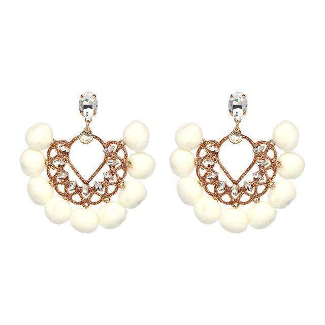 White Statement Earrings - more styles available
