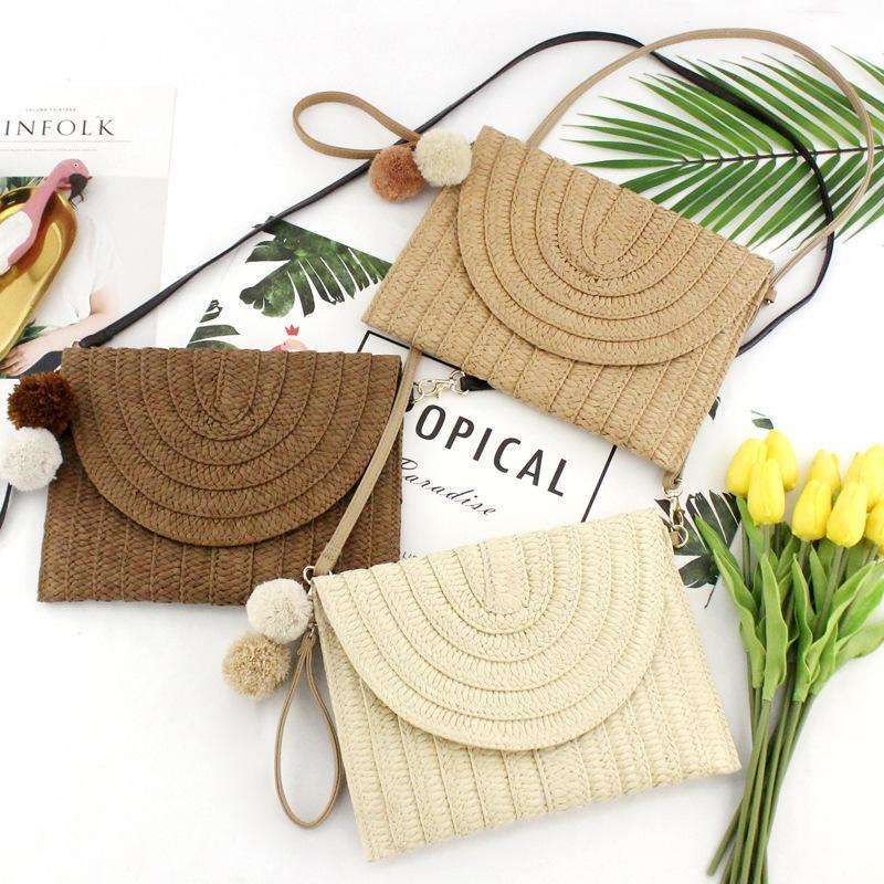 Clutch x-Body straw bag - 3 colours available