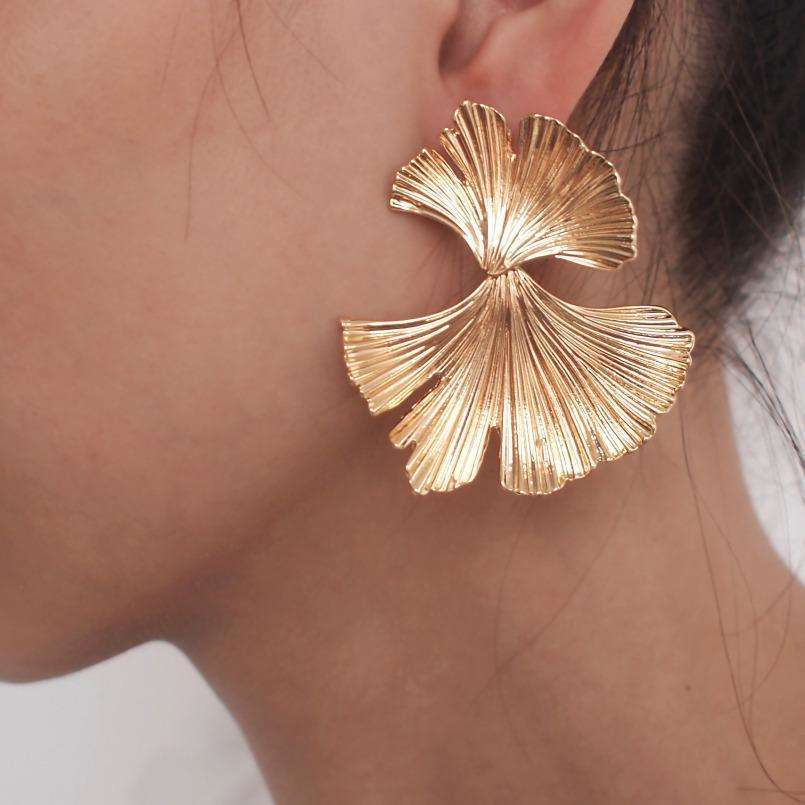 Leaf Shape Statement Earrings - 2 colours available