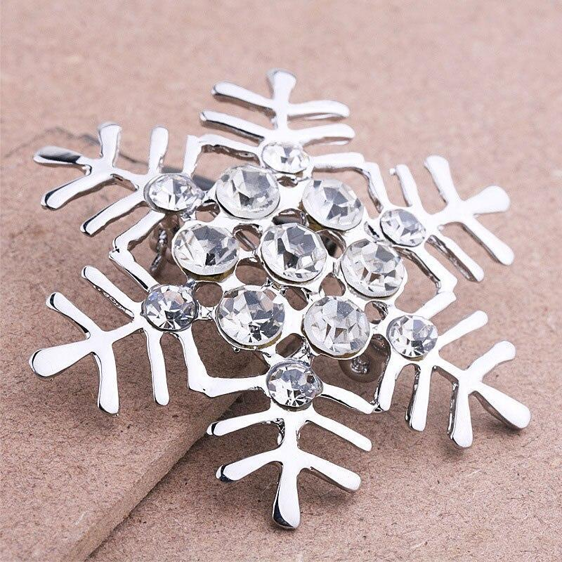 Silver Plated Snowflake Brooch