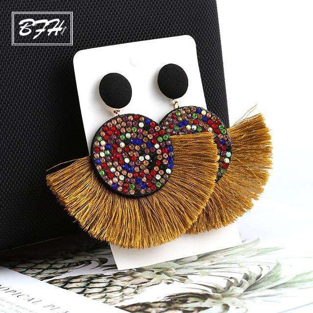 Bohemian Statement Tassel Earrings Statement - more colours and styles available