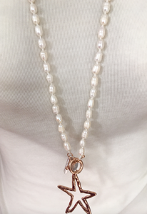 Long freshwater pearl star necklace - boudoirbythesea