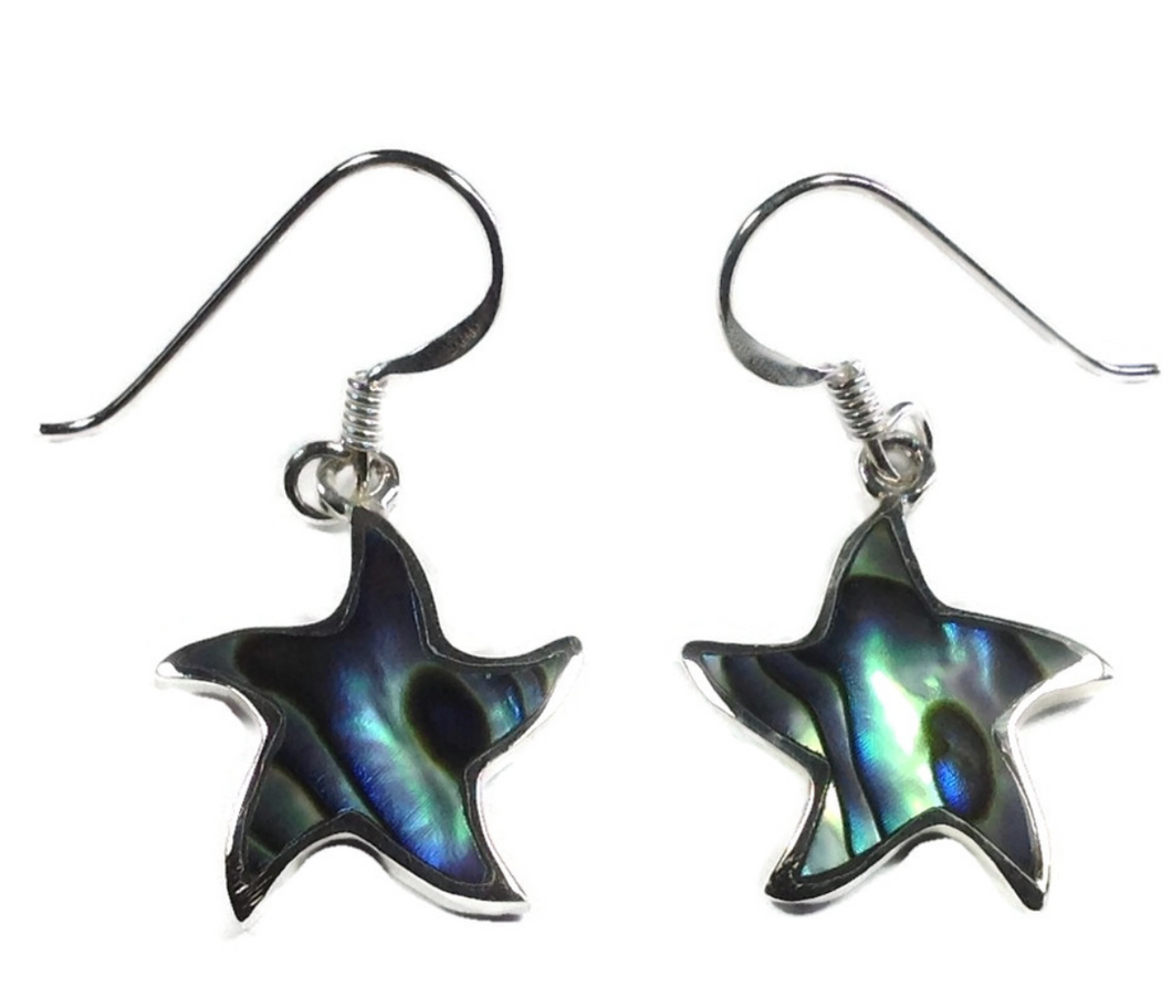 Star fish Abalone earrings - boudoirbythesea
