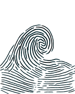 Fingerprint Wave - Large Digital